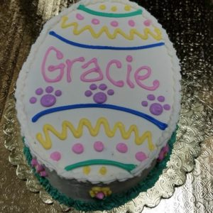 dog easter egg cake