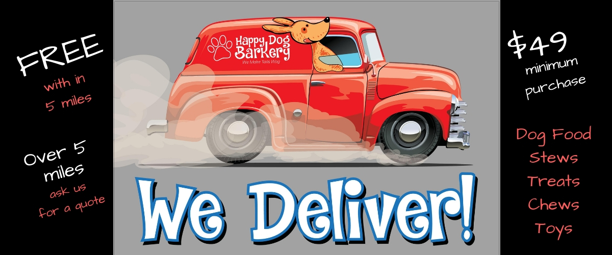 we delivery happy dog barkery