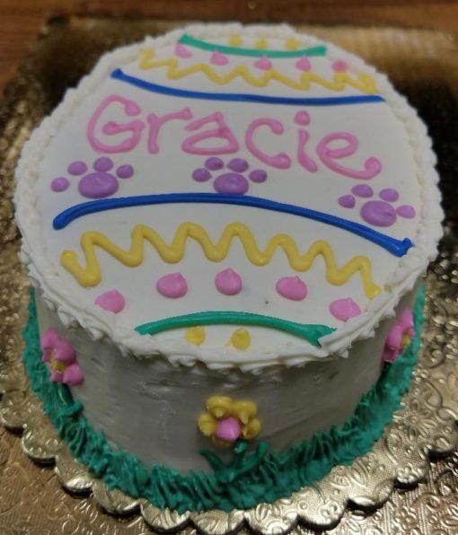 dog easter egg cake