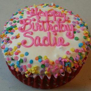 dog birthday cake